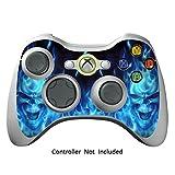 GameXcel ®  Xbox 360 Controller Skin - Schutz Vinyl-Aufkleber für X360 nehmen drahtlose Game-Controller - X3 Controller Abziehbild - Blue Deamon [Controller nicht enthalten]