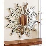 "Venetian Design Star Shape Wall Mirror Diameter 30"""