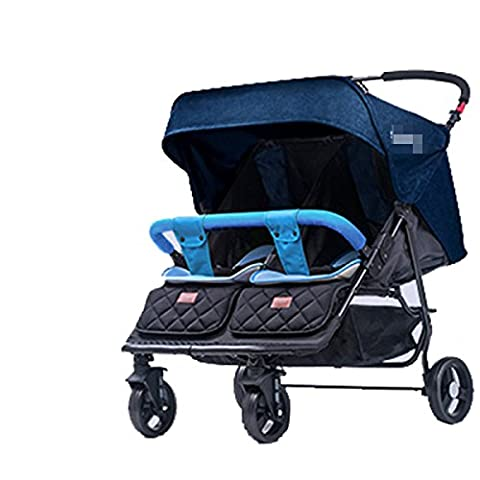 POKWAI Go Out For Casual Twins Baby Trolleys Can Sit And Ride Light Carts Double Carts Fold Baby