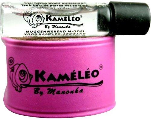 Manouka Kaméléo Bracelet Anti-Moustiques Toutes Zones avec Recharge 1.5 ml - couleur : Bleu