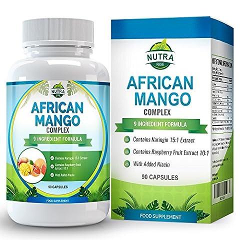 Complexe Framboise Pamplemousse Mangue, coupe-faim puissant pour perdre du poids, brûler les graisses et stimuler le métabolisme pour hommes et femmes, avec café pour brûler le gras rapidement, 90 capsules