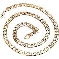 Catena - Collana placcata oro 24 carati, da Uomo - Hip Hop Bling - 6 mm