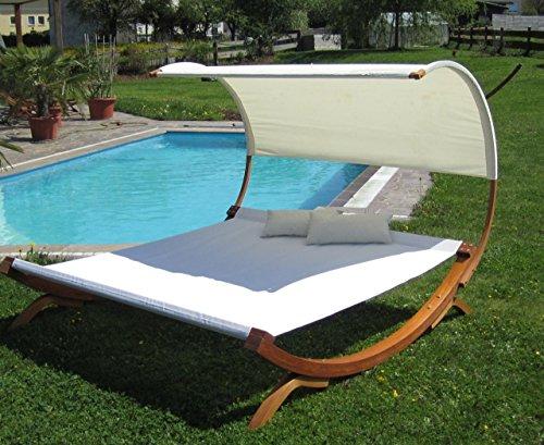 XXL Sonnenliege Doppelliege Gartenliege Hängematte Doppel Liege Gartenmöbel extrabreit für 2 Personen Modell SAONA von AS-S - 3