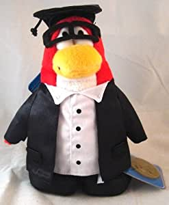 Disney Club Penguin 6.5 Inch Series 8 Plush Figure Graduate [Includes Coin with Code!]