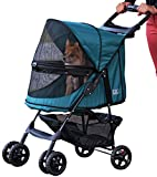 Pet Gear Happy Trails No-Zip Stroller, Emerald Green