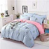 YACHAO Bettbezug und Kissenbezug Bettwäsche Digitaldruck Bettbezug Schlafzimmer SchlafsofaBettwäsche Aloe Baumwolle vierteiliges Set Farbe38 1,8m