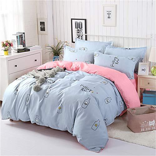 YACHAO Bettbezug und Kissenbezug Bettwäsche Digitaldruck Bettbezug Schlafzimmer SchlafsofaBettwäsche Aloe Baumwolle vierteiliges Set Farbe6 1,8 m