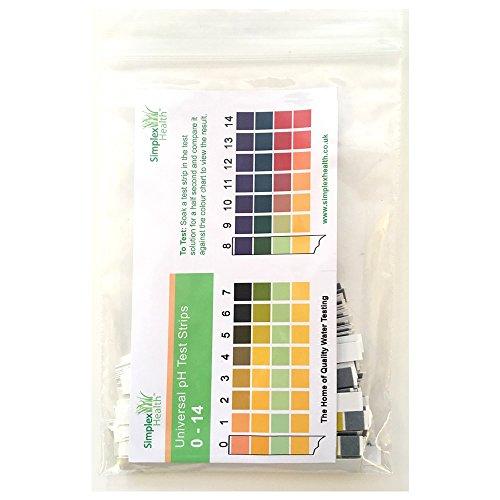 Base 14 (SimplexHealth Wasser pH Teststreifen von 0-14 (200 Stück) Säure Basen Teststreifen)