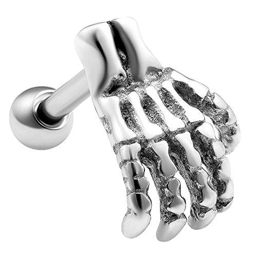 1 Stück straight barbell piercing stab kugel chirurgenstahl 1,2mm 8mm knorpel cartilage ohr rook helix augenbrauenpiercing tragus hantel ohrstecker E5NCF