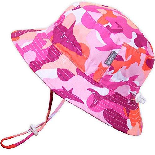 Cappello contro il sole per neonati con mentoniera, laccetto per regolazione della misura, traspirante, FPS 50+