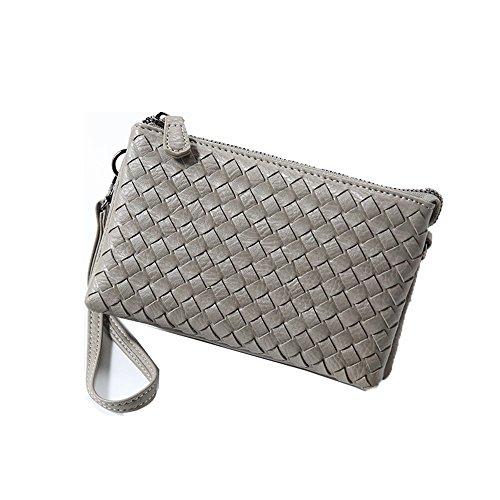 frauen - tasche aus geweben, für frauen ist die kupplung tasche handy - tasche,fernseher,hellgrau