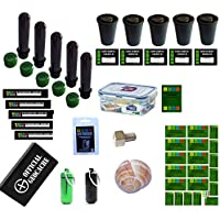 geo-versand Erwachsene 38 Teile Geocaching Behälter Paket Set-Petling Filmdose Verstecke Nano, Mehrfarbig, 20x10x15