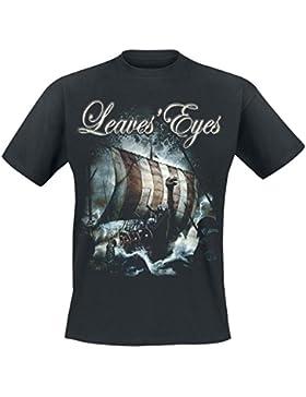 Leaves' Eyes Sign Of The Dragonhead Camiseta Negro L
