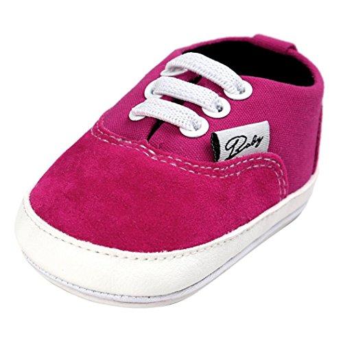 FEITONG Baby Segeltuch Schuhe Beiläufige Schuhe Turnschuh Anti-Rutsch Weiche Alleinige Kleinkind (11, Kaffee) Heißes Rosa