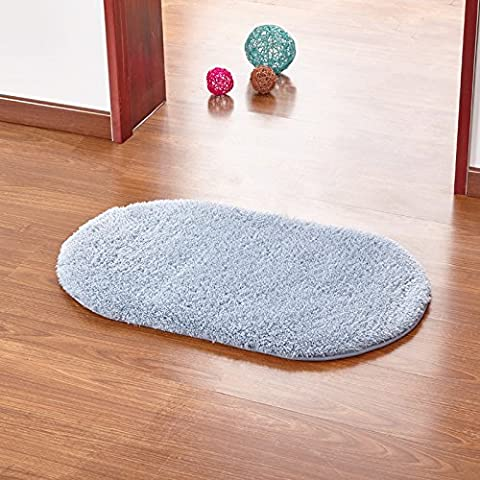 Casa Continental ultra suaves alfombras gruesas almohadillas de lana hermoso salón y dormitorio con literas deriva lateral en el panel de las alfombras de entrada ,60*160cm, elipse gris
