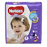 Huggies Little Movers Baby Diapers, Size 5 (21 Pieces)