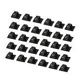 30 PCS Câbles Adhésifs Clips de Câble, Premium Adhésif 3M Fil Nylon Colliers de Serrage Câble,agrafes de câble réglable pinces de fil adhésif en nylon, support de câble de bureau, noir