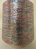 PhiloTeXX 1 Spule 500 g Metallgarn GP 44,00 EUR/kg Multicolor 86.000 m/kg Lame Beilaufgarn Glitzergarn 62% Polyester/ 38% Polyamid