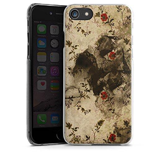 Apple iPhone X Silikon Hülle Case Schutzhülle Vintage Muster Blumen Hard Case transparent