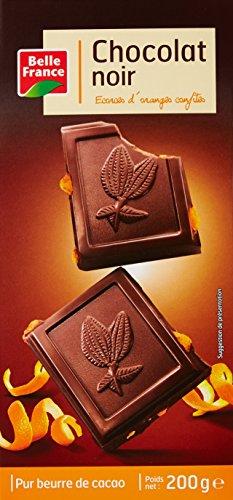 Belle France Bloc Chocolat Noir Orange 200 g - Lot de 5