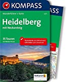 Heidelberg mit Neckarsteig: Wanderführer mit Extra-Tourenkarte 1:50.000, 35 Touren, GPX- Daten zum Download (KOMPASS-Wanderführer, Band 5271) - Norbert Forsch