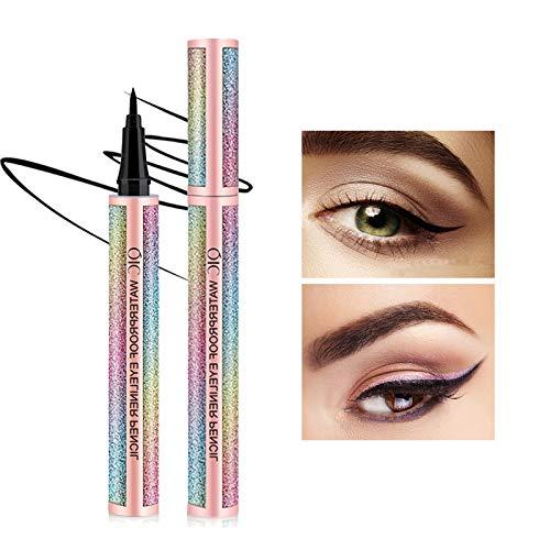 Onlyoily Eyeliner waterproof, eyeliner liquido nero, eyeliner liquido impermeabile, antisudicio, a lunga durata (nero) (2)