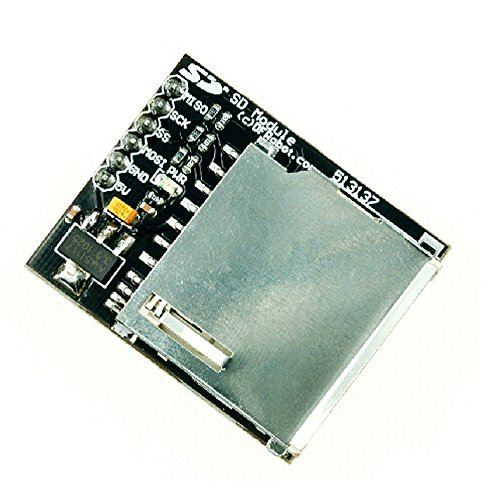 SD Module (Arduino Compatible)/Break out board for standard SD card and Micro SD (TF) card/Contains a switch to select the flash card slot/Sits directly on a Arduino/Also be used with other microcontrollers (Flash Card Maker)