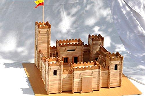 Ritterburg zum Selbstbau Holz Spielzeug Massiv Festung selber bauen Kinder Konstruktion Bausatz. Ökologisches Produkt, Modell haus.
