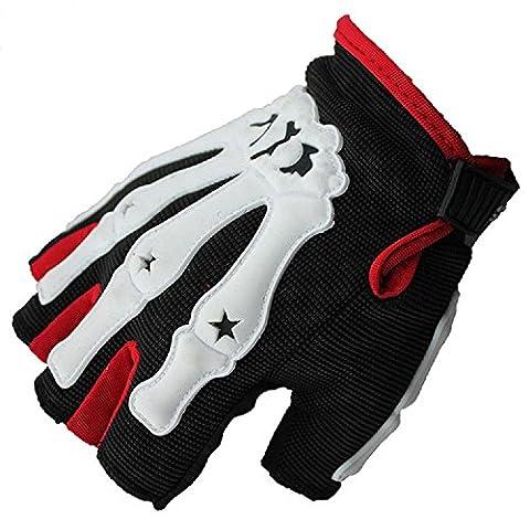 Outdoor-Cross-Country-Männer und Frauen Parkour Skid Geist Reiten Fahrräder halbe Fingerhandschuhe Mountainbike Handschuhe , red , (Giants Geist)