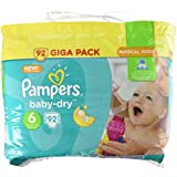 Pampers Baby Dry Giga Lot, taille 6, 92couches