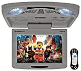 "Rockville Rockville RVD12HD-GR 12"" Grey Flip Down Car Monitor DVD/USB/SD Player + Games"