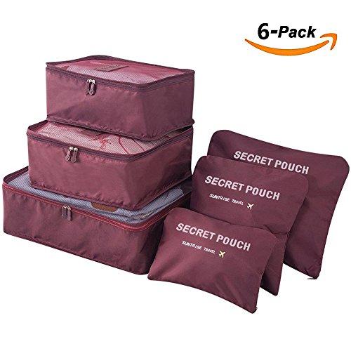 Juego de 6 cubos de embalaje, bolsa secreta de viaje, bolsa de almacen