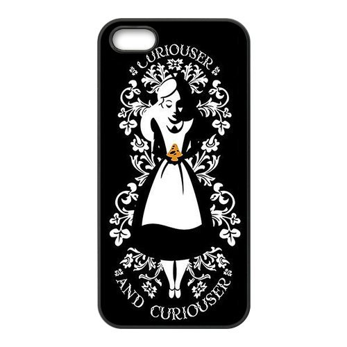 Coque pour iPhone 5S, Alice in Wonderland Designs Back Case Cover For Apple iPhone 5 5S, Apple iPhone 5 5shülle Étui Coque Case Cover
