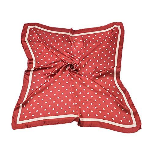 tuch Kopftuch Schick Nickituch Bandana 90 x 90cm (Polka Dot-Rot) ()