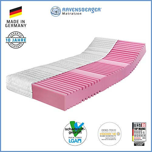 RAVENSBERGER Orthopädische | 7-Zonen-HR-Kaltschaumkomfortmatratze | RG 40 Härtegrad 2 (45-80Kg) |...