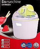 Eismaschine Speiseeisbereiter Eiscremebereiter 0,7L Eis Eiscreme Speiseeis Maschine Gelato