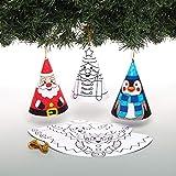 Baker Ross AW982 Árboles de Navidad Cónicos Navideños para Colorear, Ideales para Manualidades Infantiles, Pack de 12
