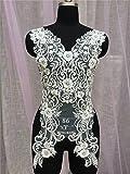 Selene, weiß Perlen Braut Kleid Motiv Hochzeit Gewand Spitze Applikation Abendkleid Spitze Dekoration Trim