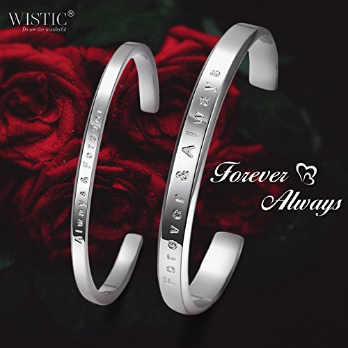 "Parr Partner Armbänder aus Edelstahl mit Gravur ""His Only & Her One"" (Always Forever & Forever Always)"