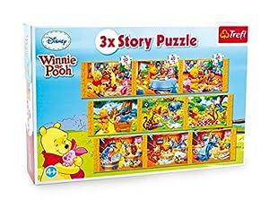 Pequeño Pie Company (smb5v) - 3482 - rompecabezas de madera de 3 en 1 - Winnie The Pooh Historia