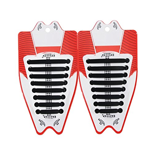 Silicone Lacci per Scarpe Elastici Adulti e Bambini Shoelaces 672fd21d5d8