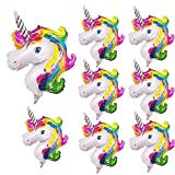 NIGHT-GRING 8x Rainbow Unicorn Palloncino SuperShape Decorazione per Matrimonio Nozze Compleanno Palloncino 29 x 46cm