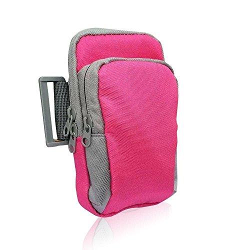 hellodigi Sporthülle Handgelenk Tasche passend für Laufen Wandern Skifahren Klettern Radfahren rose