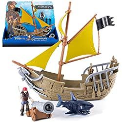 Piratas del Caribe - Juguete barco pirata de Jack - La venganza de Salazar.