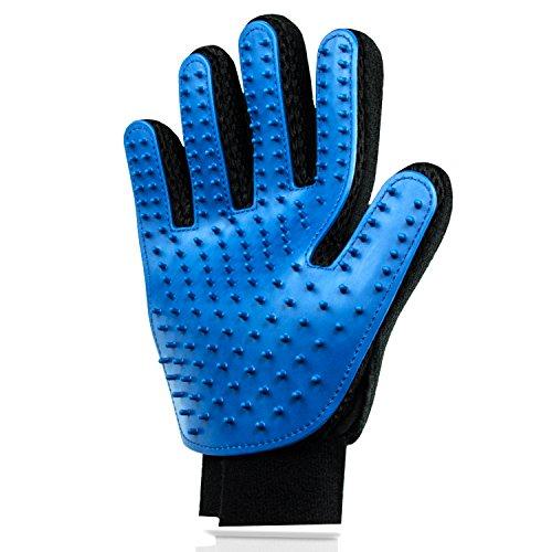 Lechelt Hochwertiger Fellpflege-Handschuh zur einfachen Entfernung loser Tierhaare - Wie eine Massage für Hund & Katze