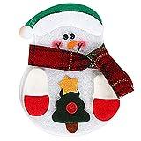 Cikuso 1 stuecke Nette Weihnachten Weihnachts Dekor Kueche Geschirr Halter Tasche Abendessen Tasche Schneemann