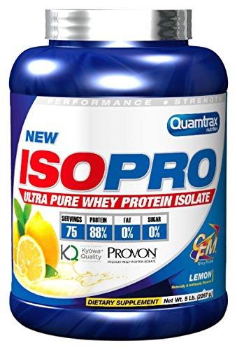 Quamtrax Nutrition Isopro CFM Lemon, Suplementos para Deportistas - 2267 gr