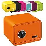MySafe Tresor Design Safe 250 x 350 x 280 mm (HxBxT) Fingerabdruck Schloss verschiedene Farben grün, lila, pink, blau/, Orange