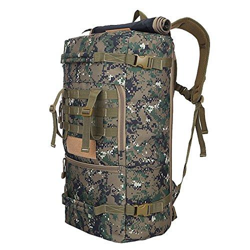 Alpinismo zaino di viaggio di grandi capacità multi-function borse sportive outdoor sports camouflage zaino camouflage zaino spalla 65*35*25cm, tre sabbia camouflage In bianco e nero