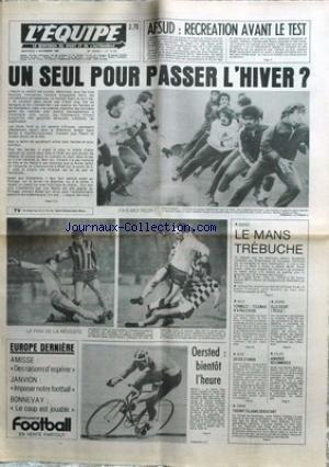 EQUIPE (L') [No 10723] du 05/11/1980 - AFSUD - RECREATION AVANT LE TEST - BASKET - LE MANS - OERSTED - DECES D'OWEN - F1 - TOLEMAN - VOLLEY - TH. TULASNE.